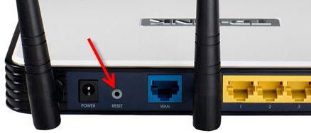 Кнопка Reset для перезагрузки и сброса настроек Wi-Fi роутера.
